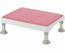 【送料無料】浴そう台高さ調節付やわらか L型 ピンク