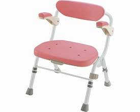 【あす楽】 ピンク【送料無料】折りたたみシャワーチェア R型 R型 肘掛付 ピンク, グルメコングストリート:e836cbdc --- sunward.msk.ru