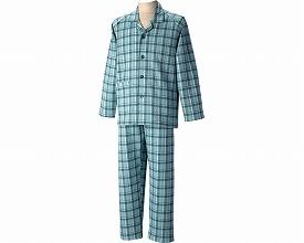 紳士用長袖パジャマ(秋冬用)M ブルー
