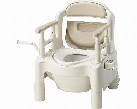 【送料無料】ポータブルトイレ FX-CP暖房便座 ピンク