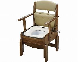 【あす楽】【送料無料】木製トイレきらく コンパクト 普通便座