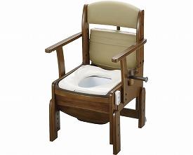 【送料無料】木製トイレきらく コンパクト 普通脱臭