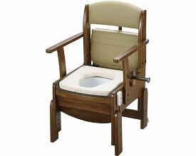 【送料無料】木製トイレきらく コンパクト やわらか脱臭