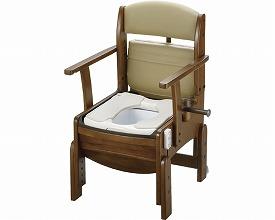 【送料無料】木製トイレきらくコンパクトエクスジェル便座 脱臭