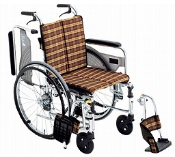 【送料無料】スレンダー車椅子SKT-4 #A-4 座幅38 【非課税】