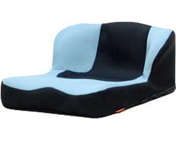 【送料無料】座位保持クッション LAPS(ラップス) ライトブルー