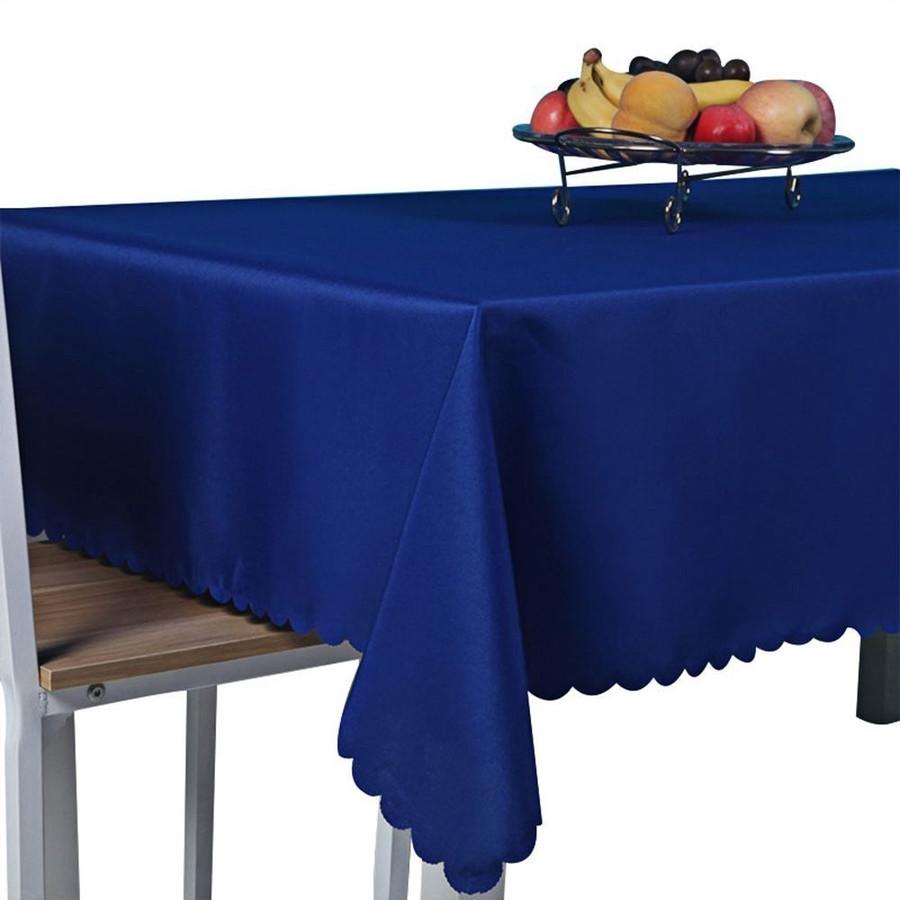 テーブルを傷や汚れから守り 敷くだけで明るい雰囲気に テーブルクロス 商店 ブルー 無地 135x180cm 定価の67%OFF