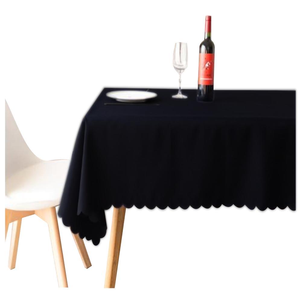 新色追加して再販 テーブルを傷や汚れから守り 敷くだけで明るい雰囲気に 公式通販 テーブルクロス 135x180cm 無地 ブラック