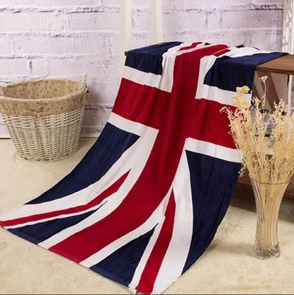 バスタイム まで おしゃれに バスタオル 国旗 ユニオンジャック オシャレなバスタオル 140×70cm 値下げ 流行 イギリス タオル 英国 デザイン