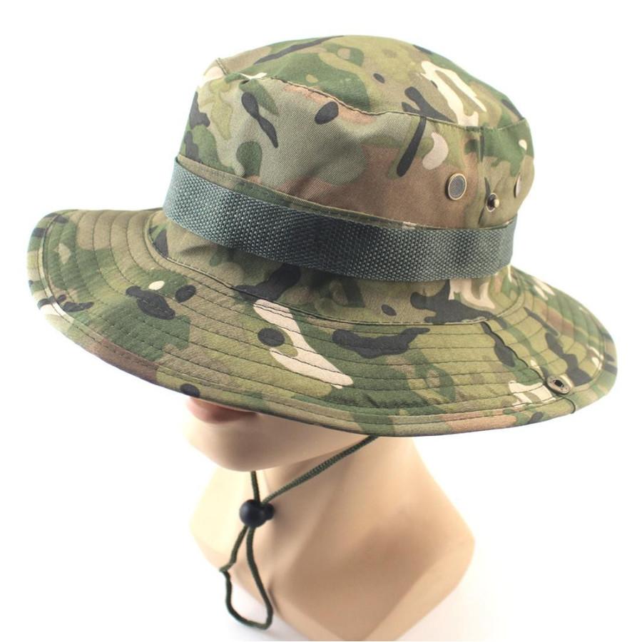 キャンプ 迷彩 日よけ帽子 セール品 日焼け予防 折りたたみ 米軍ブーニーハット サファリハット ジャングルハット 登山 つば広 釣り 2020モデル 通気穴付き アウトドア用 帽子 日除け