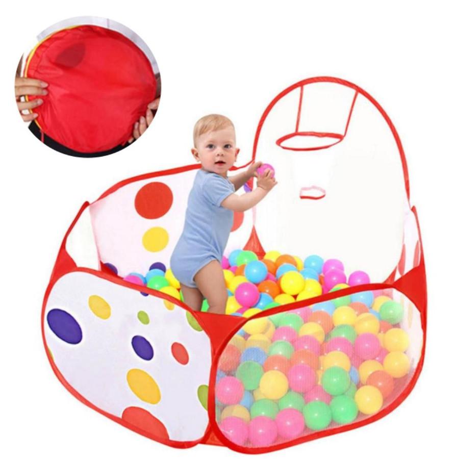 ゴール付きで楽しくボールプール遊び ボールプール 折り畳み式 最安値に挑戦 バスケットネット付き ボールハウス 子供部屋 収納バッグ付き 人気海外一番 プレイハウス 120cm 室内遊具