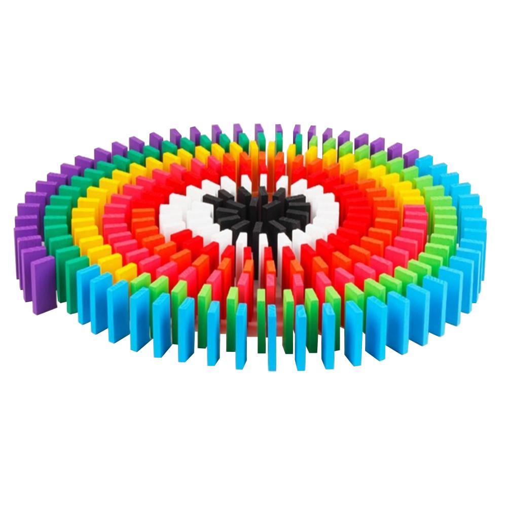 12色 240個 ドミノ倒し 積み木 知育玩具 天然木製 おもちゃ カラフル こども 誕生日 プレゼント 収納袋つき