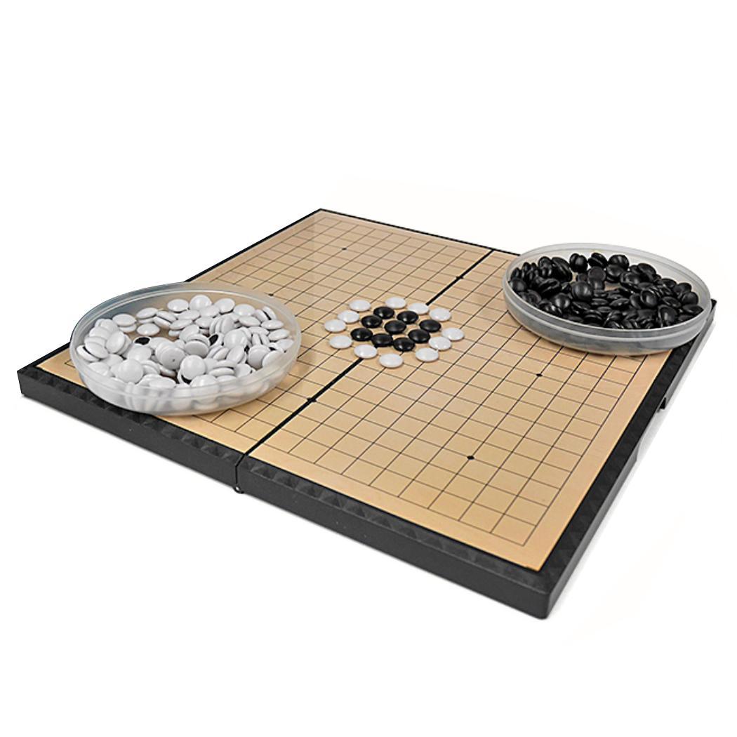 大人気! 持ち運び便利 ポータブル 囲碁セット 囲碁 囲碁盤 セット 折りたたみ式 マグネット石 兼用 × プロ 初心者 中 28.5cm 使い勝手の良い