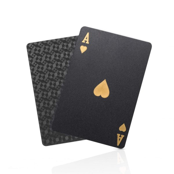 トランプ プラスチック カード マジック 高品質 防水 豪華 ブラック
