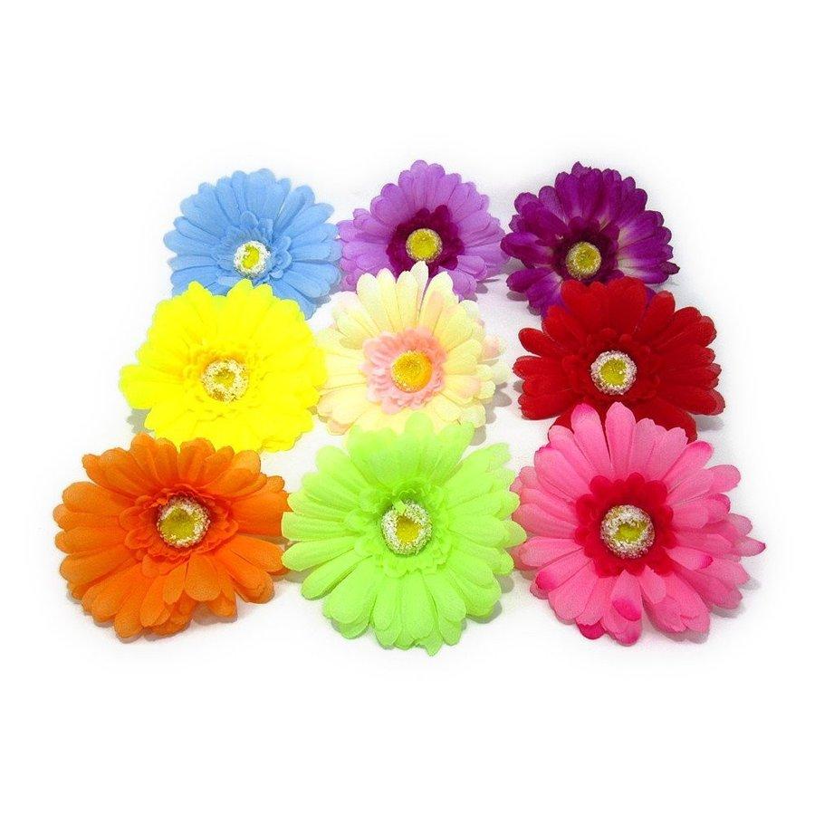 結婚式 二次会 イベント 手作りに ガーベラ 造花 10センチ(花のみ)27コ カラフル 9色 花 フラワー
