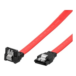 ポイント 5倍 爆安 送料分まで ゲット SATA3ケーブル 6Gbps対応 ラッチ付き ストレート - 下L型コネクター 20cm レッド SATAケーブル OWL-SATA3SLU20-RE 期間限定お試し価格 データ 安全 安心 ロック 赤 パソコン ラッチ 転送 ケーブル PC