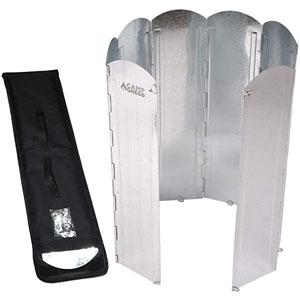 ポイント 5倍 選択 送料分までポイントゲット ポイント5倍 大型反射板 大型風防板 8枚連結 長さ120cm 商い 専用手さげつき収納ケース Oリング付属 ストーブ 輻射熱 固定可能 バーナー 屋外 反射式 焚き火 屋内