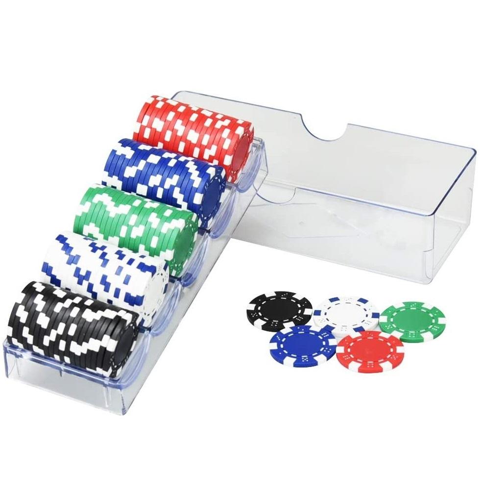 トランプ ルーレット 麻雀など様々なゲームで使用できます ポーカーチップセット ゲーム用 チップセット プロ仕様 カジノゲーム 定価 バカラ 本格的 セット カジノチップ 重量感 マージャン 5色 高品質新品 チップ ポーカーチップ 100枚セット 麻雀
