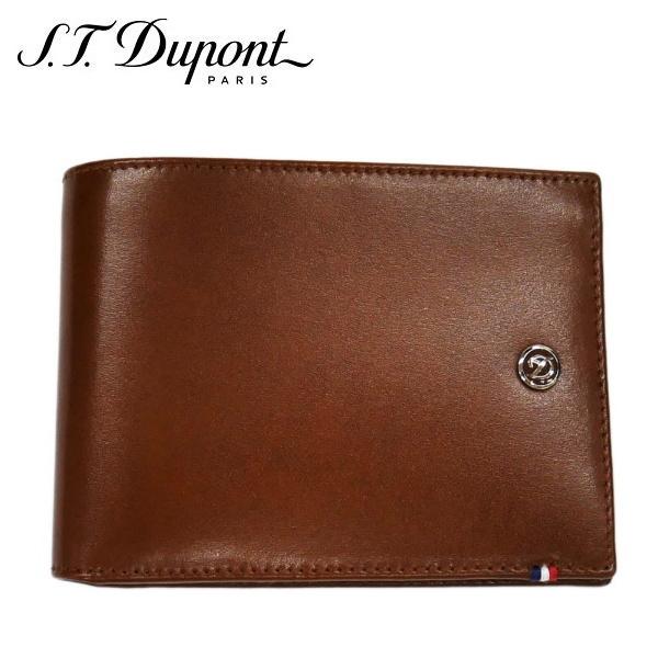 st.Dupont エス・テー・デュポン2つ折り財布 ブラウン Dライン SLG PORTE-BILLETS 6 CC PI E/BR ギフト プレゼント 父の日
