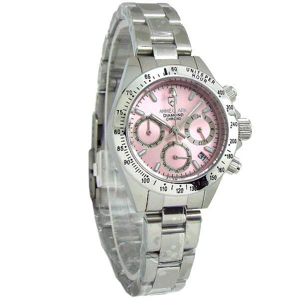 レディス腕時計 クロノグラフ 天然ダイヤ アンクラーク AM1012-VD22 ギフト プレゼント 誕生日