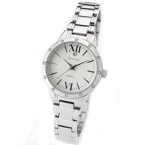 フォーエバー レディス腕時計 オーバル型 ホワイト文字盤 ローマインデックス FL-2506-1 ギフト プレゼント 母の日ギフト