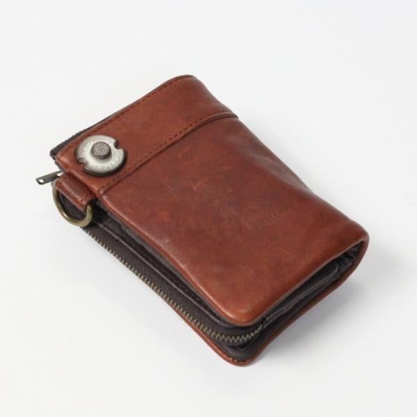 メンズ財布 デバイス DEVICE 二つ折れ財布 DKW-17058BR ブラウン ギフト プレゼント