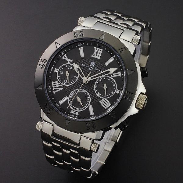 サルバトーレ・マーラ Salvatore Marran マルチファンクション機能 メンズ腕時計 SM114118-SSBK