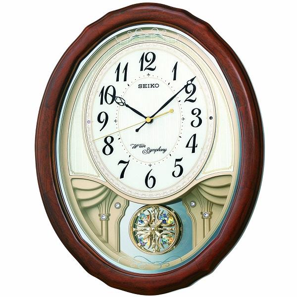 SEIKO セイコー 電波クロック 掛け時計 カラクリ時計 AM257B ギフト 贈答品 新築祝い