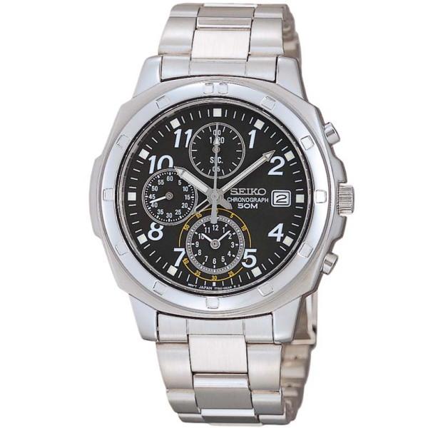 セイコー SEIKO クロノグラフ メンズ腕時計 SND195P ブラックフェイス 【並行輸入品】