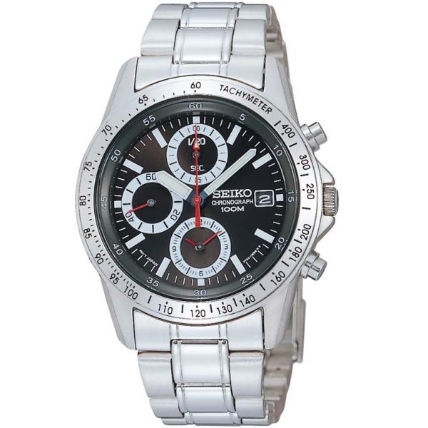 セイコー SEIKO クロノグラフ メンズ腕時計 SND371PC ブラックフェイス 【並行輸入品】