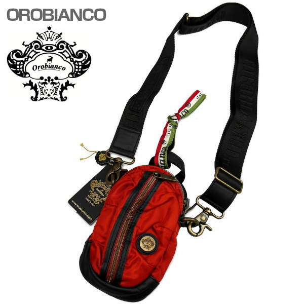 OROBIANCO オロビアンコ ショルダーバッグ レッド系 GRAFFIO MINI-G OR168 ARANCIO-02 ギフト プレゼント