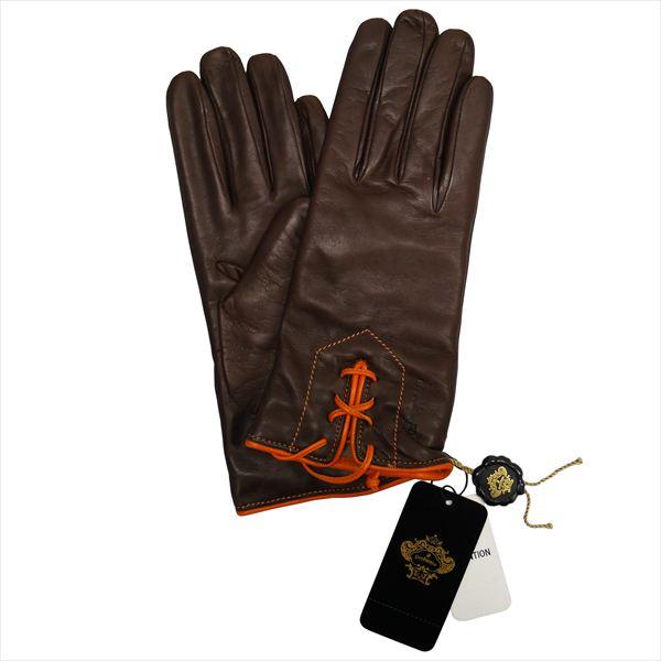オロビアンコ 手袋 手ぶくろ グローブ NAPPA 洋革 レディス イタリー製 ORL-1456 ダークブラウン ギフト プレゼント