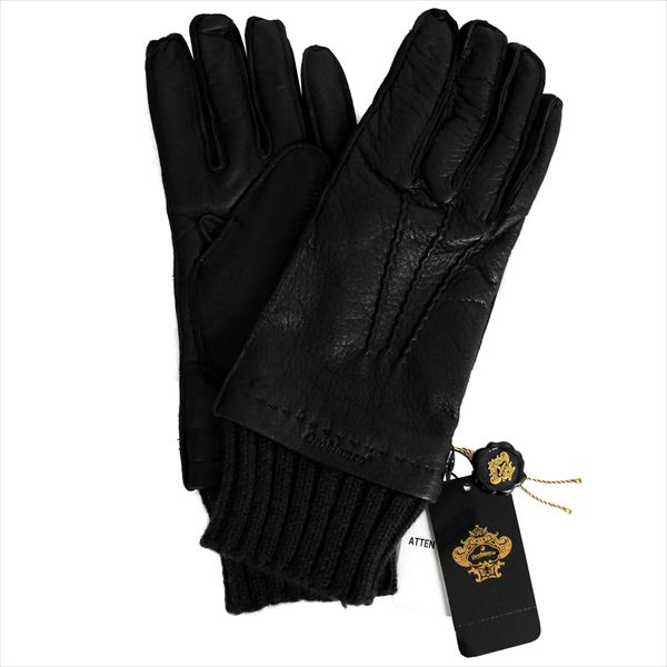 オロビアンコ メンズ手袋 手ぶくろ グローブ ブラック 洋革 裏地ウール イタリー製 ORM-1405 ギフト プレゼント