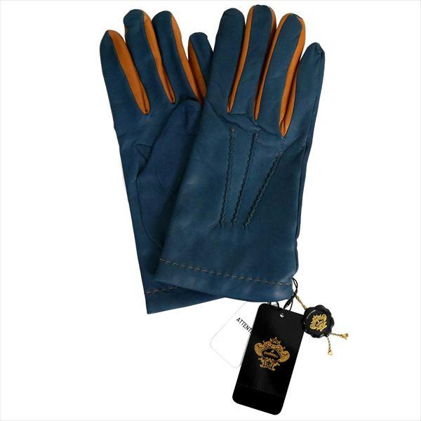 オロビアンコ 手袋 手ぶくろ グローブ ブルー 洋革 メンズ イタリー製 ORM-1406 ギフト プレゼント