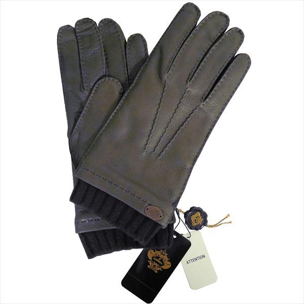 オロビアンコ 手袋 手ぶくろ グローブ カーキ ディアスキン(鹿革) メンズ イタリー製 ORM-1413 ギフト プレゼント