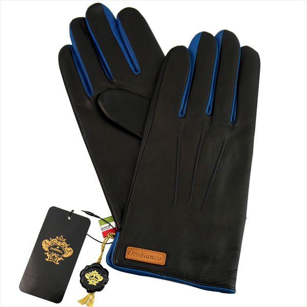 オロビアンコ 手袋 手ぶくろ グローブ NAPPA 洋革 メンズ イタリー製 ORM-1530 ブラック ブルー ギフト プレゼント
