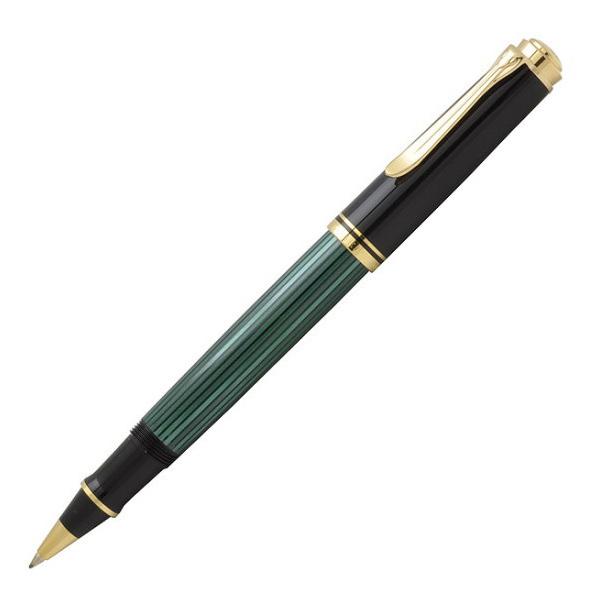 ペリカン スーベレーン ローラーボールペン R400 グリーン縞 R400-GREEN ギフト プレゼント 贈答品 記念品 就職祝い 昇進祝い