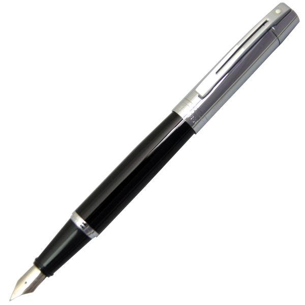 シェーファー 万年筆 シェーファー300 ブラック&クローム SGC9314-PN ペン先:M(中字)ギフト プレゼント 贈答品