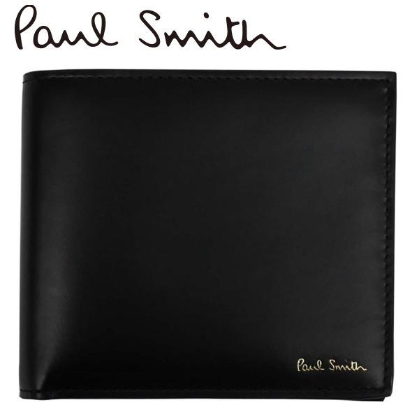 ポールスミス 財布 2つ折り財布 本皮革 ブラック CUPC-4833-W930 ギフト プレゼント クリスマス