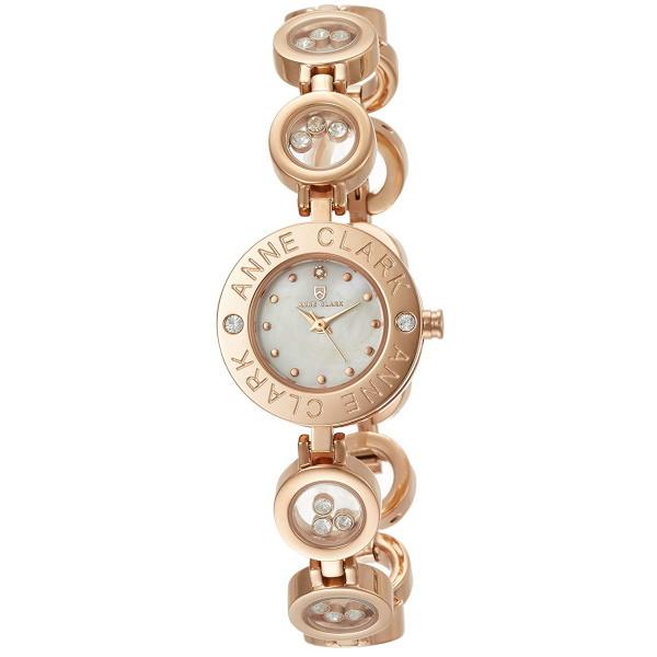 レディス腕時計 アンクラーク ANNECLARK 天然ダイヤ入り シェルダイヤル ブレスレット型 レディス腕時計 AT1008-09PG ギフト プレゼント