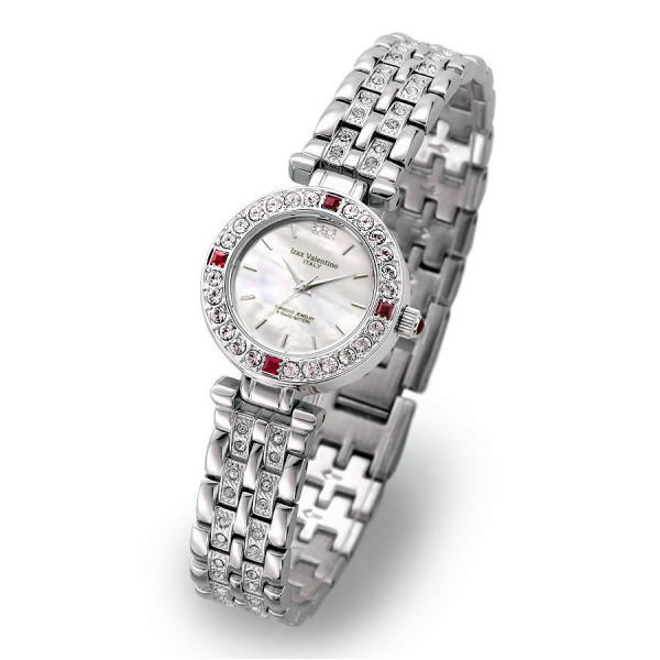 工芸品のような高級感が漂うジュエリーコレクション アイザック・バレンチノ レディス腕時計 IVL-9100-2 ギフト プレゼント 贈答品 記念品
