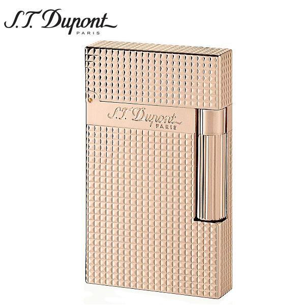 St.デュポン LINE2 ラインツー ガスライター ダイアモンドヘッド ピンクゴールド 16424 正規品 ギフトプレゼント