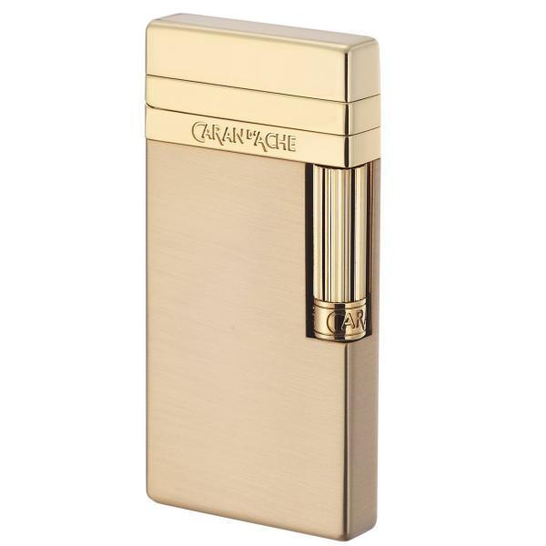 カランダッシュ CARAN d'ACHE フリントガスライター ゴールドサテン CD40-4013 正規代理店品 ギフト プレゼント贈答品 誕生日