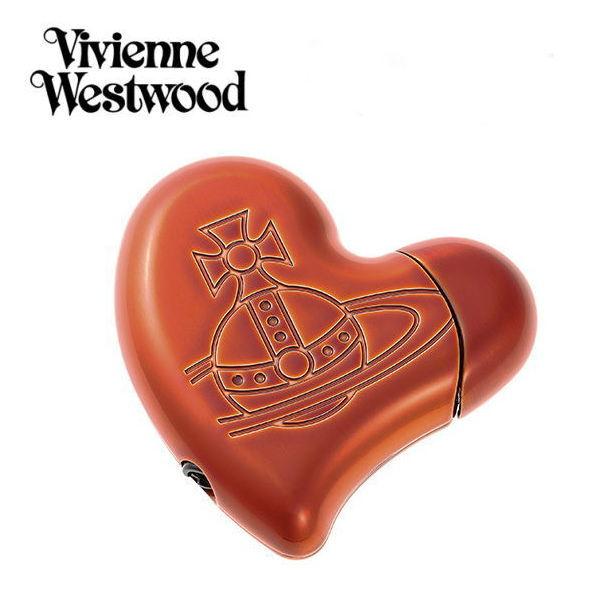 ヴィヴィアンウエストウッド 電子ガスライター Vivienne Westwood 喫煙具 ハートオレンジ ギフト プレゼント