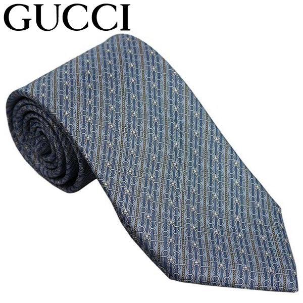 グッチ GUCCI ネクタイ ライトブルー系 イタリー製 シルク100% ギフト プレゼント 贈答品