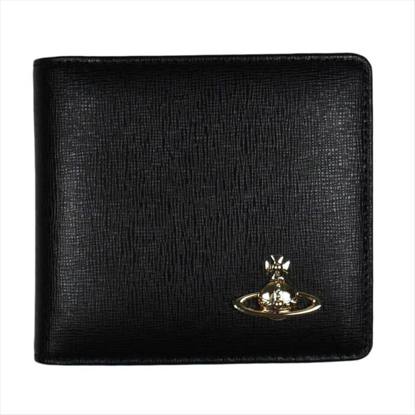 ヴィヴィアン・ウエストウッド SAFFIANO サフィアーノ 二つ折り財布 51010009 BLACK 18SS No-10 ギフト プレゼント 贈答品 誕生日祝い 成人式