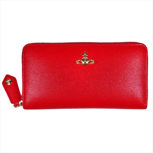 ヴィヴィアンウエストウッド ラウンドファスナー長財布 SAFFIANO 長財布 51050023 RED 18SS No-10 ギフト プレゼント 贈答品