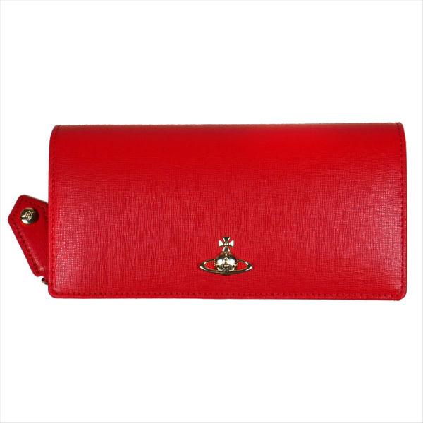 ヴィヴィアンウエストウッド 長財布 ホック式 SAFFIAN サフィアーノ 51060025 RED 18SS No-10 ギフト プレゼント 贈答品