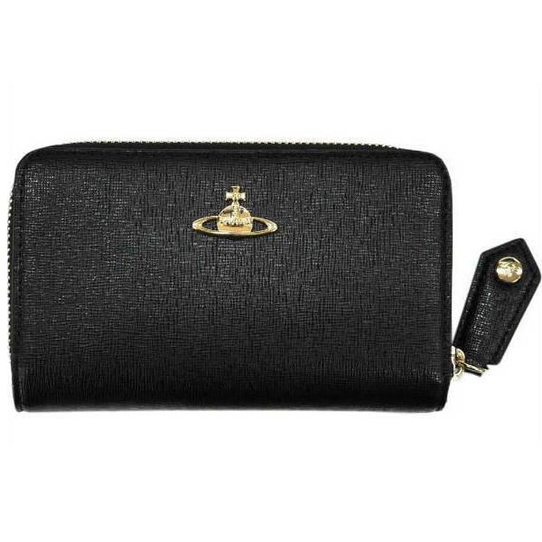 ヴィヴィアンウエストウッド 長財布 ホック式 ブラックゴールドオーヴ SAFFIANO No9 ギフト プレゼント 贈答品