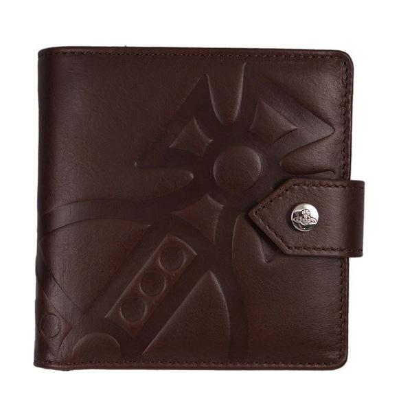 ヴィヴィアン・ウエストウッド ボタン式2つ折り財布 ブラウン CHESTER MAN GIANT ORB 51090001 BROWN No-10 ギフト プレゼント 贈答品 誕生日祝い 成人式